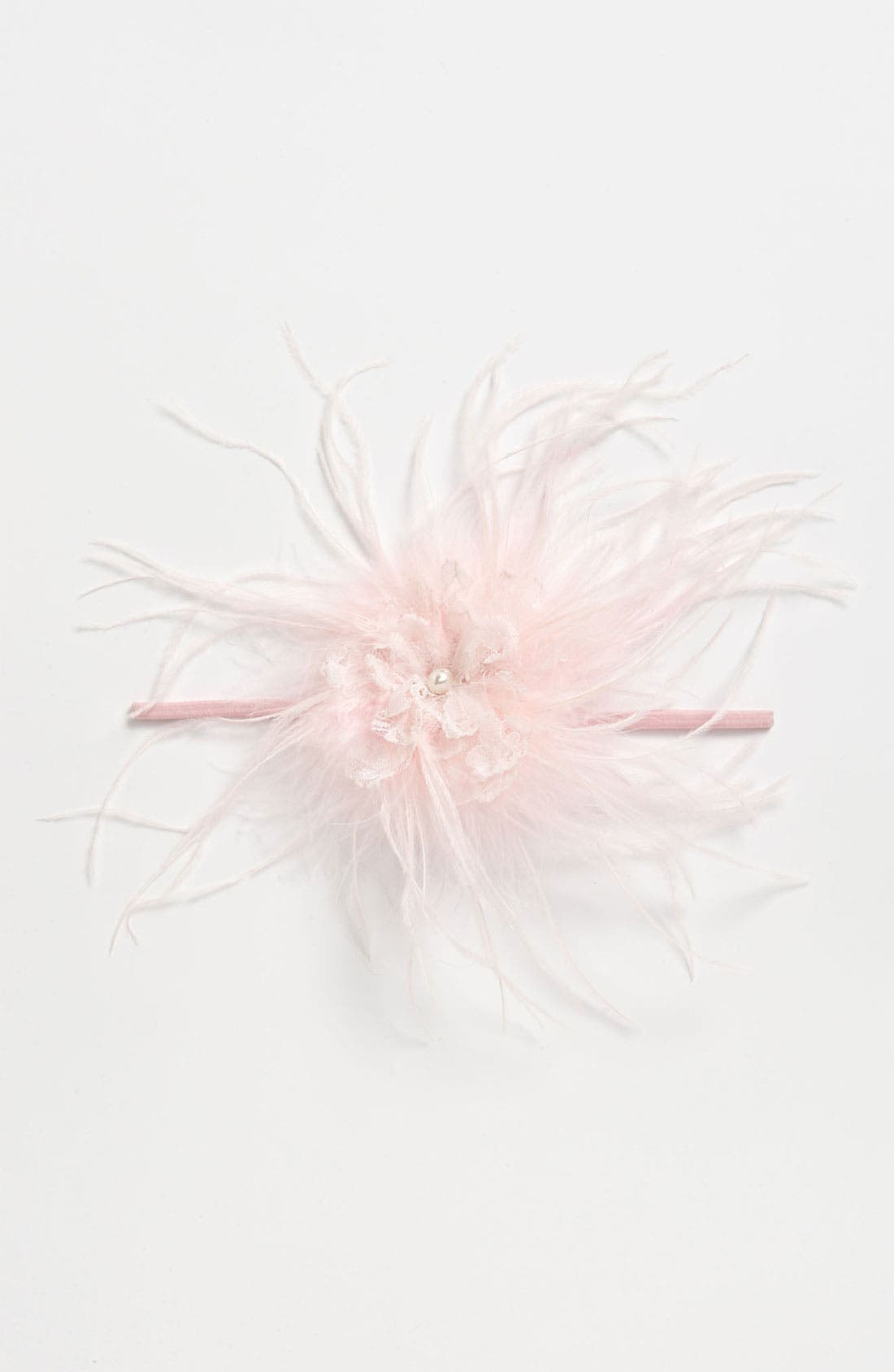 Main Image - PLH Bows & Laces Feather Headband (Baby Girls & Toddler Girls)