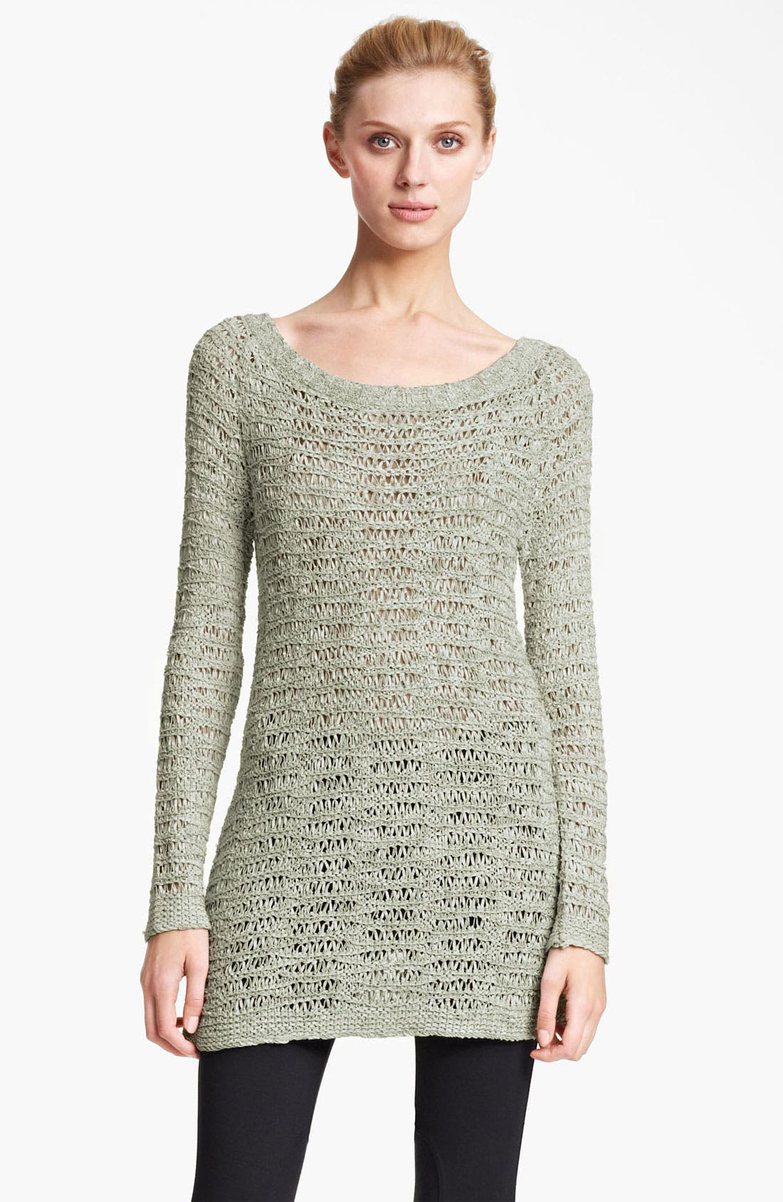 Alternate Image 1 Selected - Donna Karan Collection Open Knit Sweater