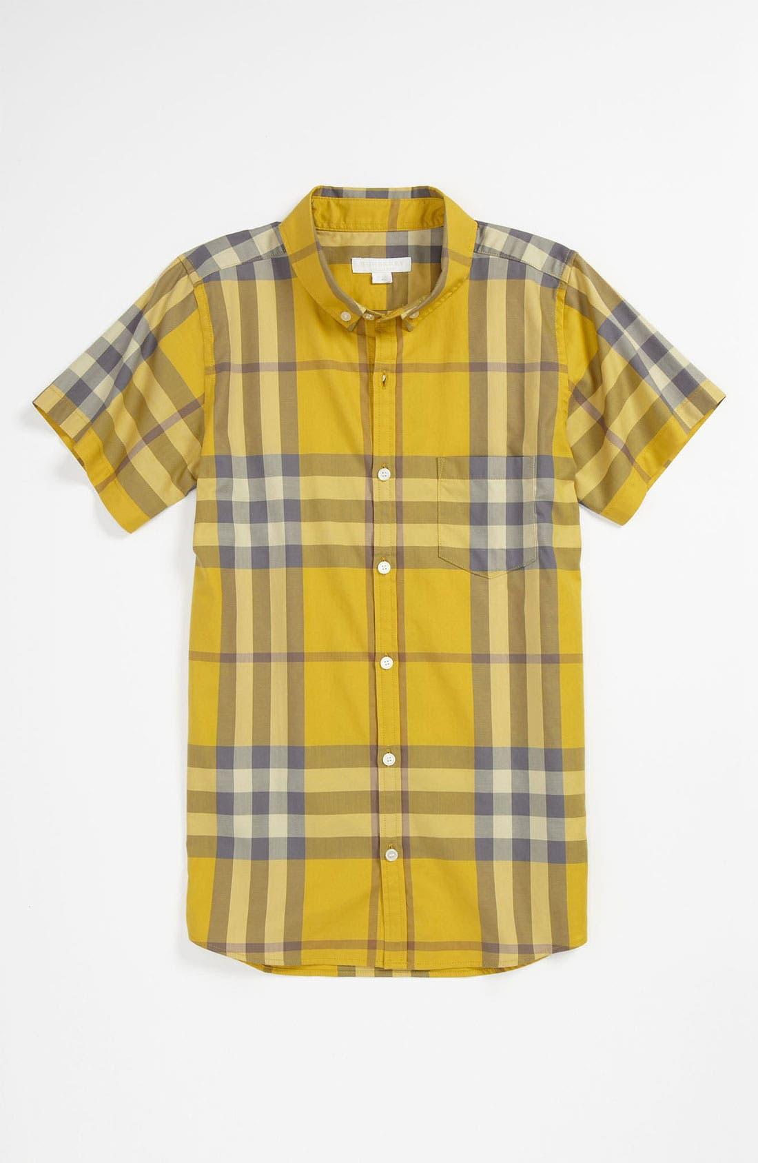 Alternate Image 1 Selected - Burberry 'Fred' Woven Shirt (Little Boys & Big Boys)