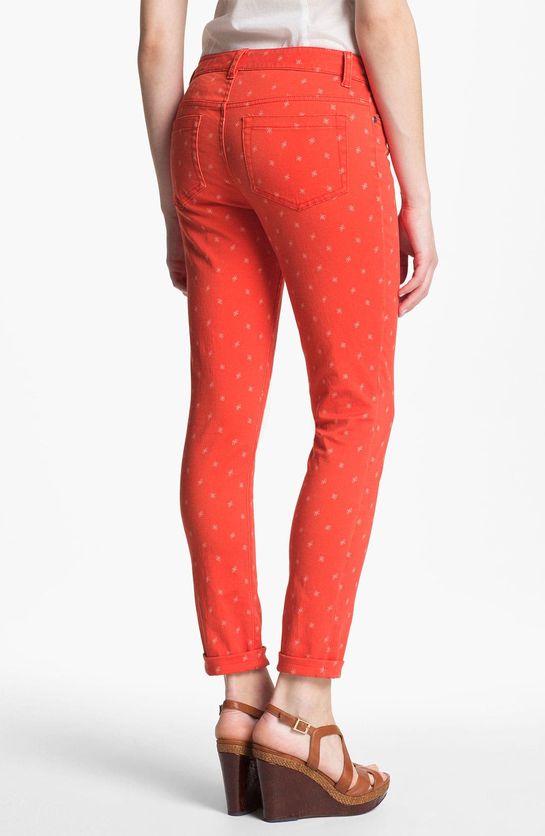 Alternate Image 2  - Two by Vince Camuto 'Shorty' Star Print Jeans (Fiery Red)