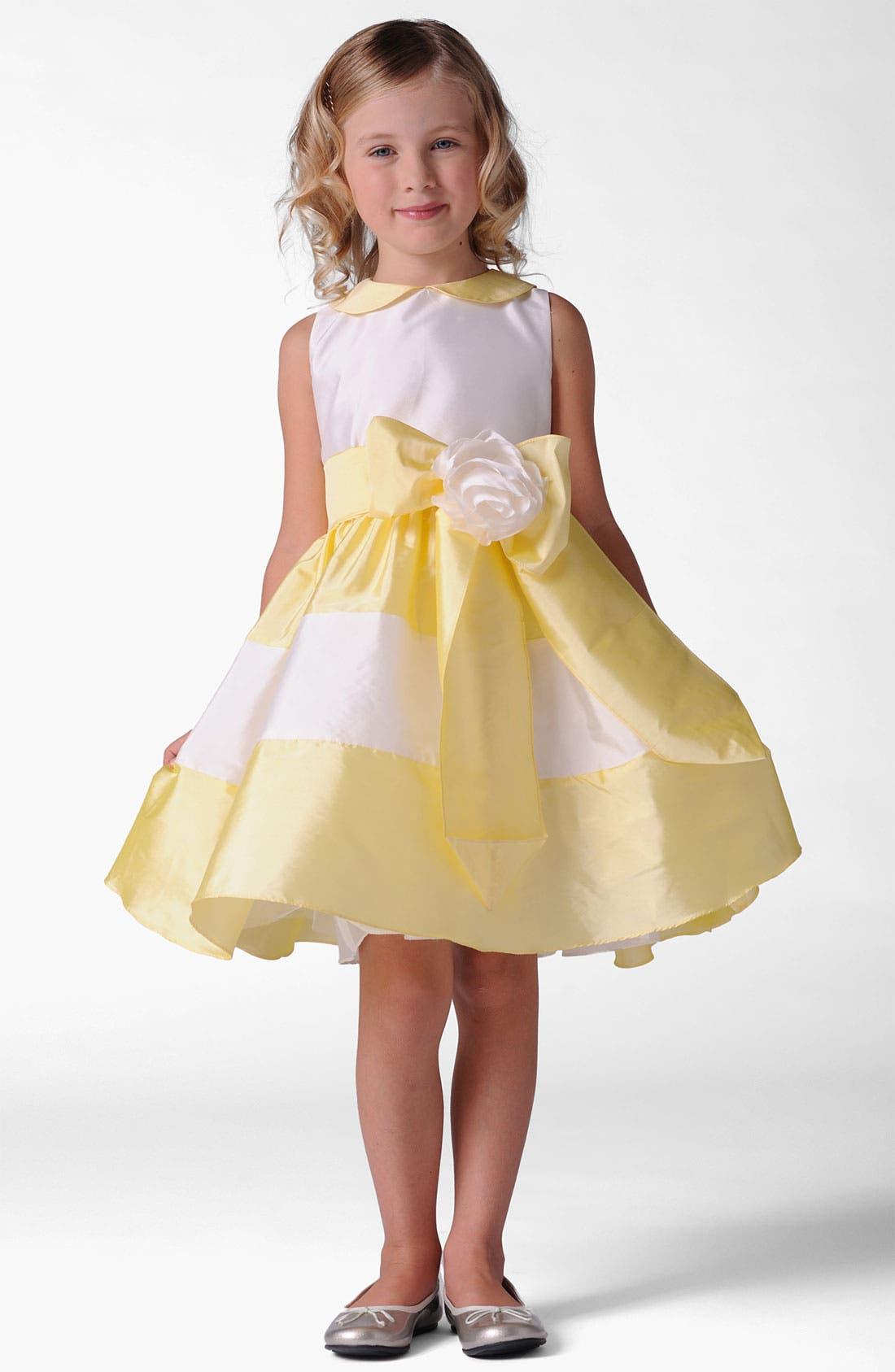 Alternate Image 1 Selected - Us Angels Peter Pan Collar Dress (Little Girls)