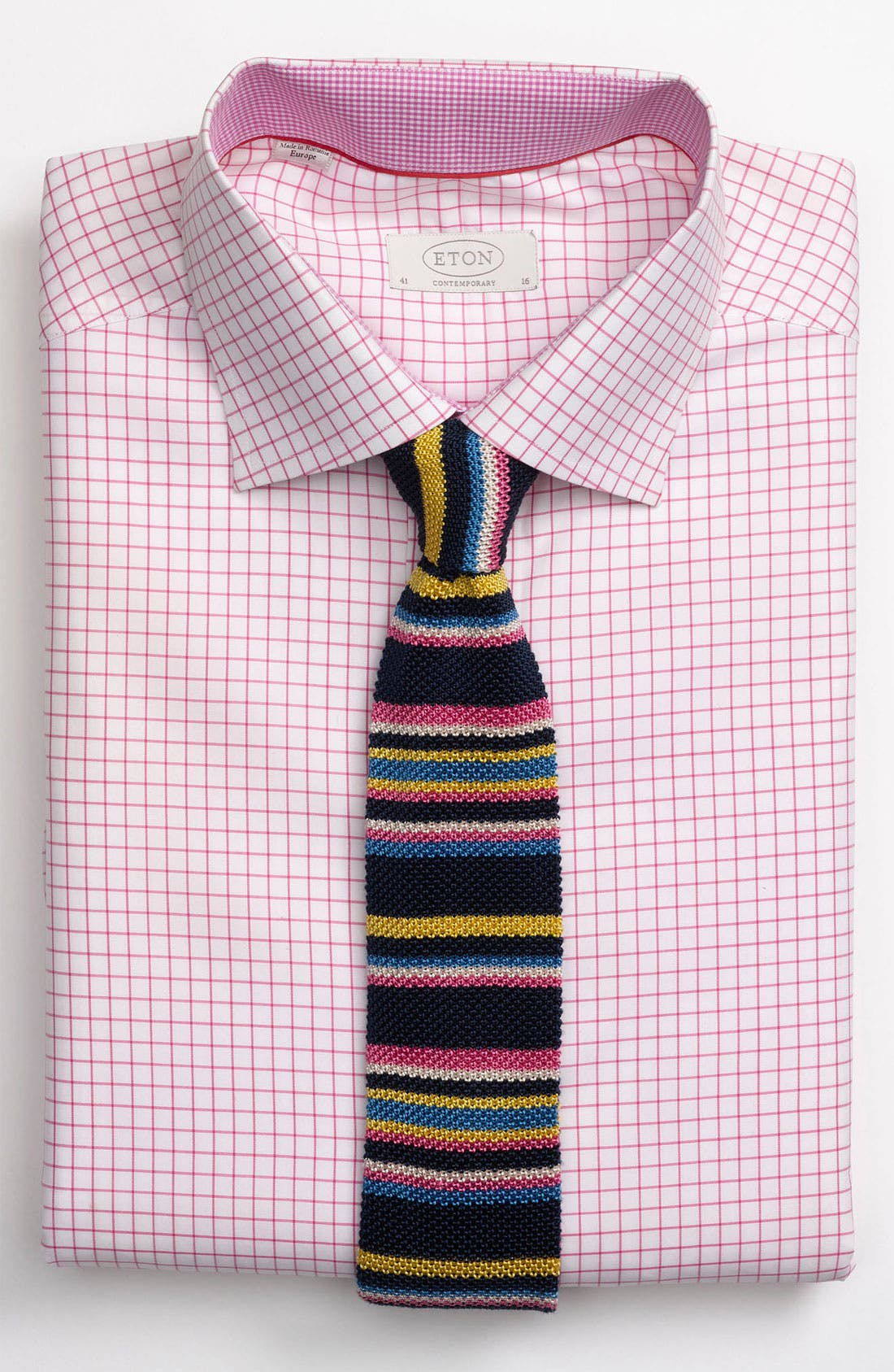 Alternate Image 3  - Eton Contemporary Fit Check Dress Shirt