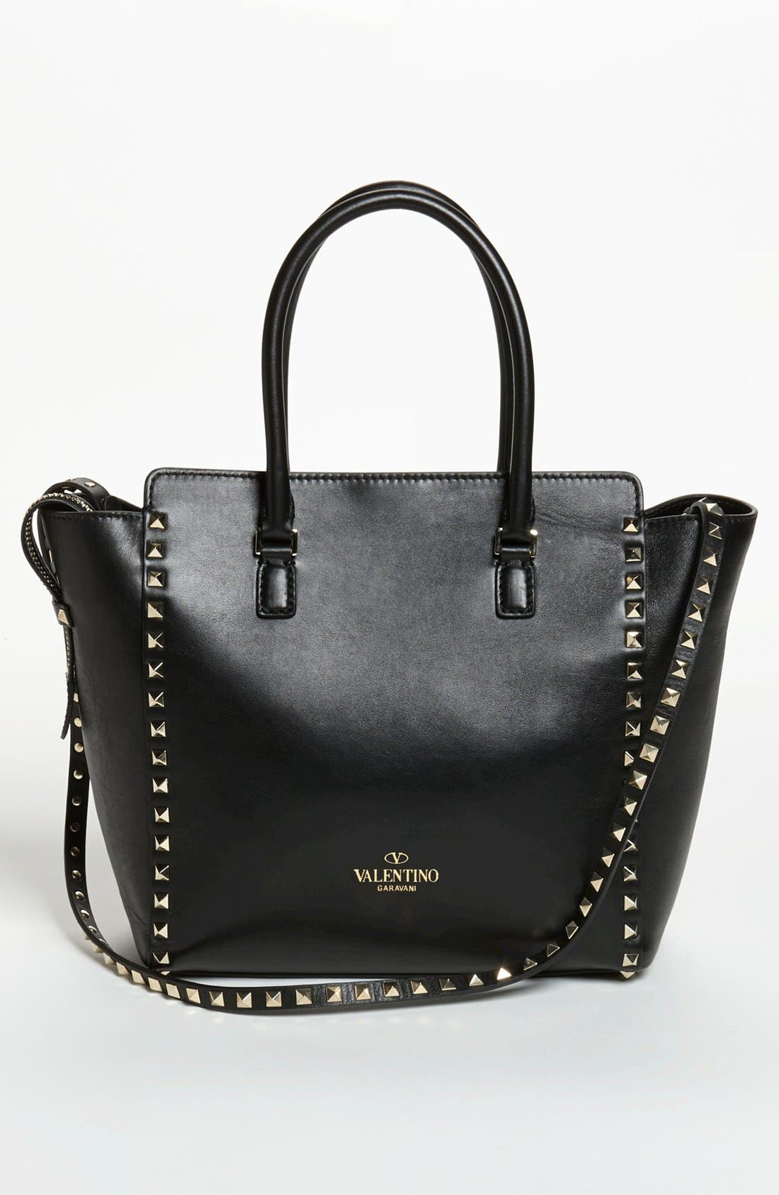 Alternate Image 4  - Valentino 'Rockstud' Double Handle Leather Tote