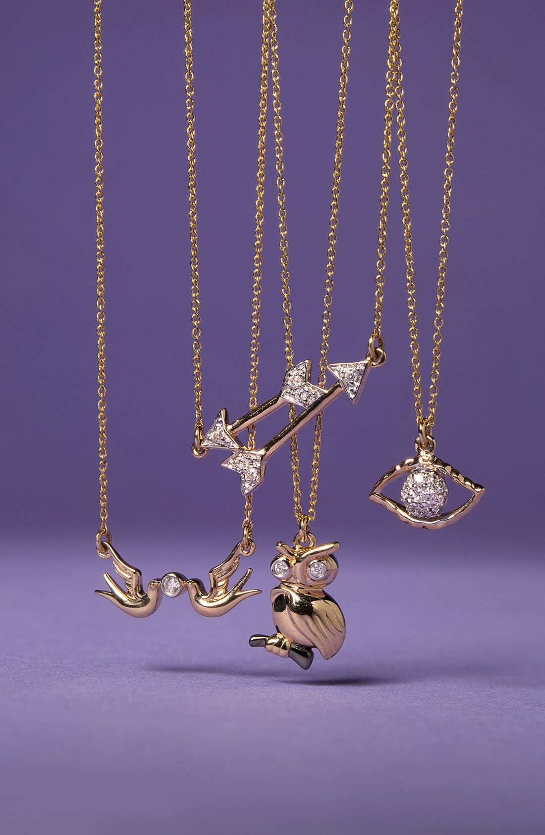 Alternate Image 3  - Whitney Stern Double Dove Pendant Necklace