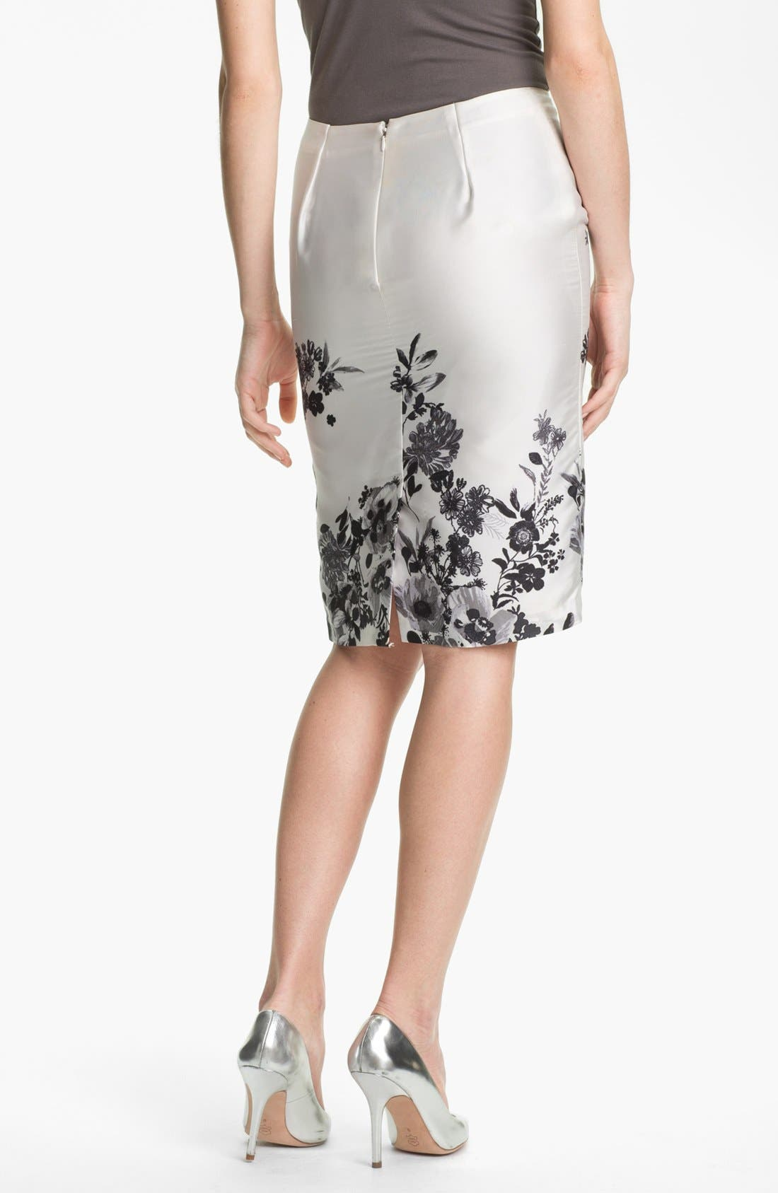 Alternate Image 2  - Vince Camuto 'Graphic Garden' Pencil Skirt