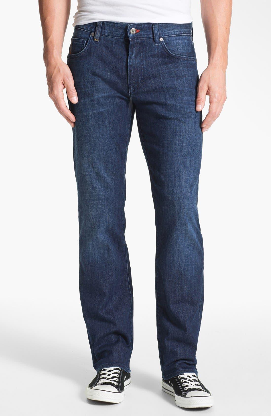 Alternate Image 1 Selected - BOSS Black 'Kansas' Regular Fit Jeans (Blue Authentic)