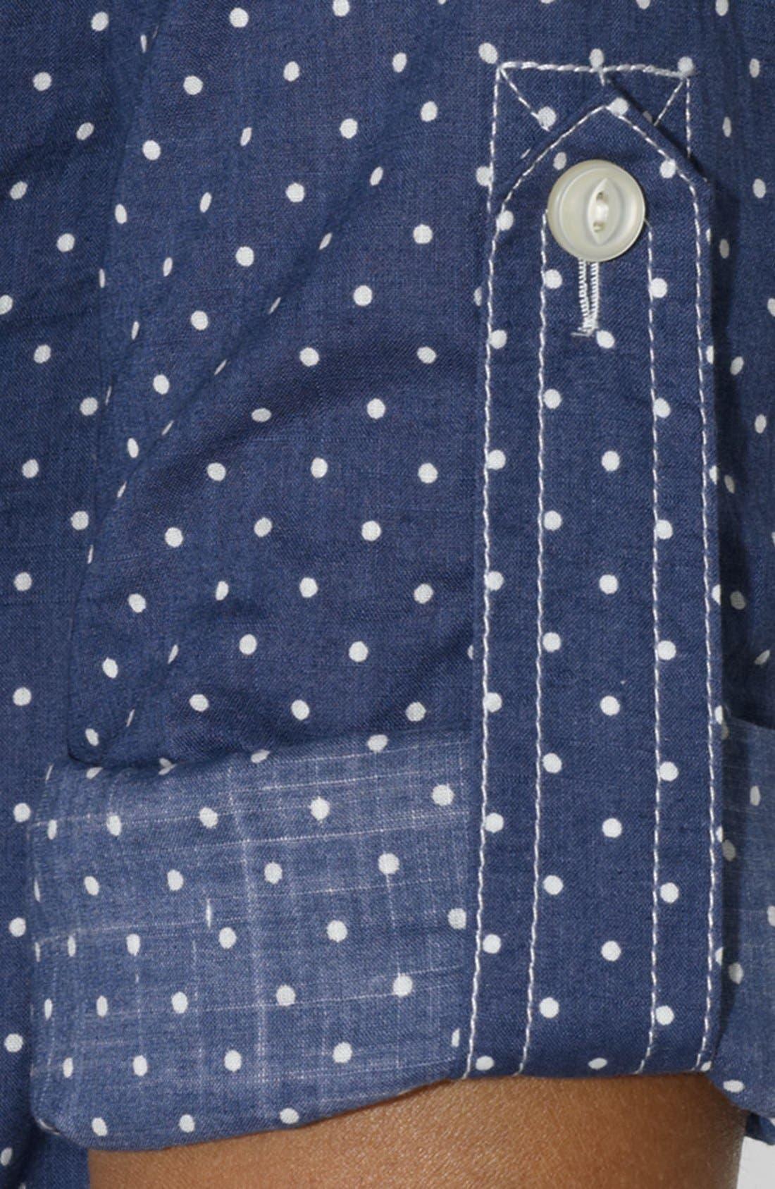 Alternate Image 3  - Lauren Ralph Lauren Dot Chambray Shirt