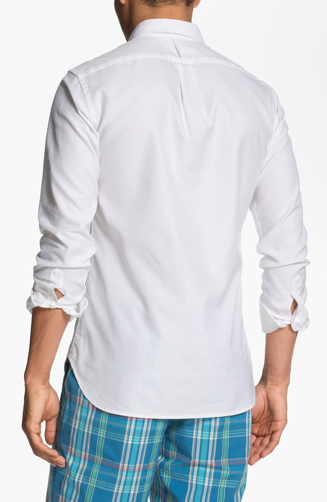 Alternate Image 2  - J. Press York Street Regular Fit Oxford Sport Shirt