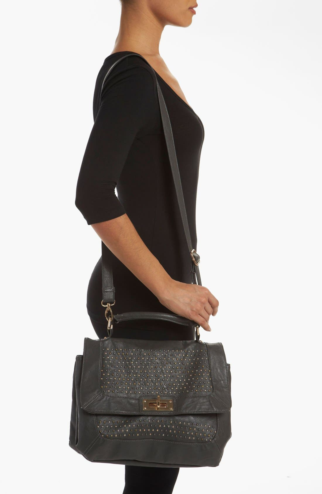 Alternate Image 2  - Cesca Studded Top Handle Satchel (Online Only)