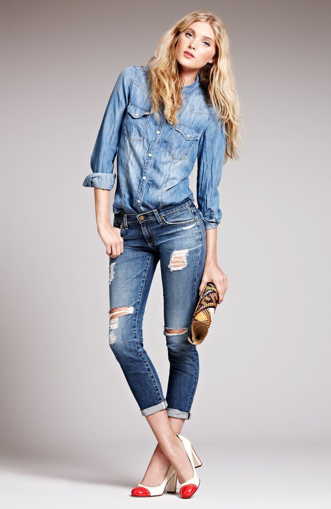 Main Image - AG Jeans & Trouvé Shirt