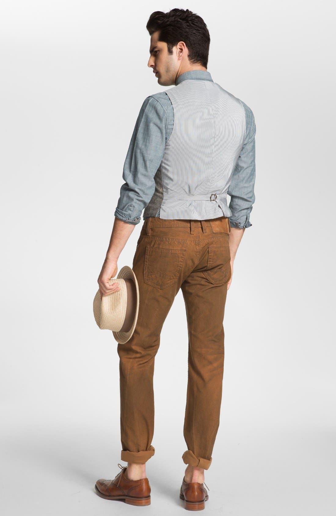 Alternate Image 2  - John Varvatos Star USA Vest, 1901 Sport Shirt & Cult of Individuality Jeans