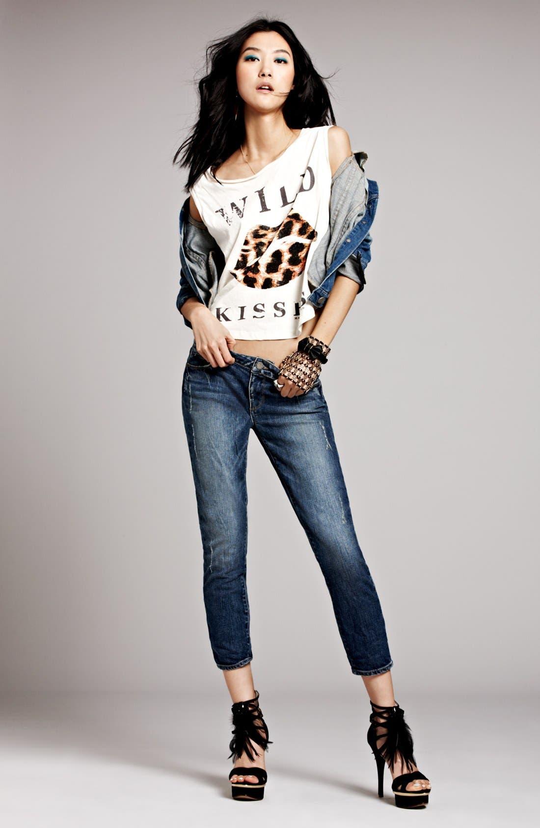 Alternate Image 1 Selected - Maison Scotch Tank, Paige Jeans & Jacket
