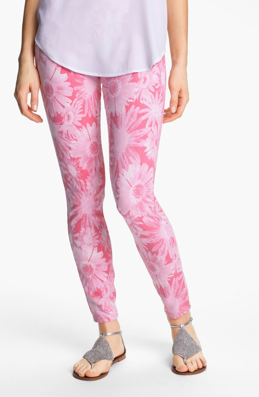 Alternate Image 1 Selected - Hue Floral Denim Leggings