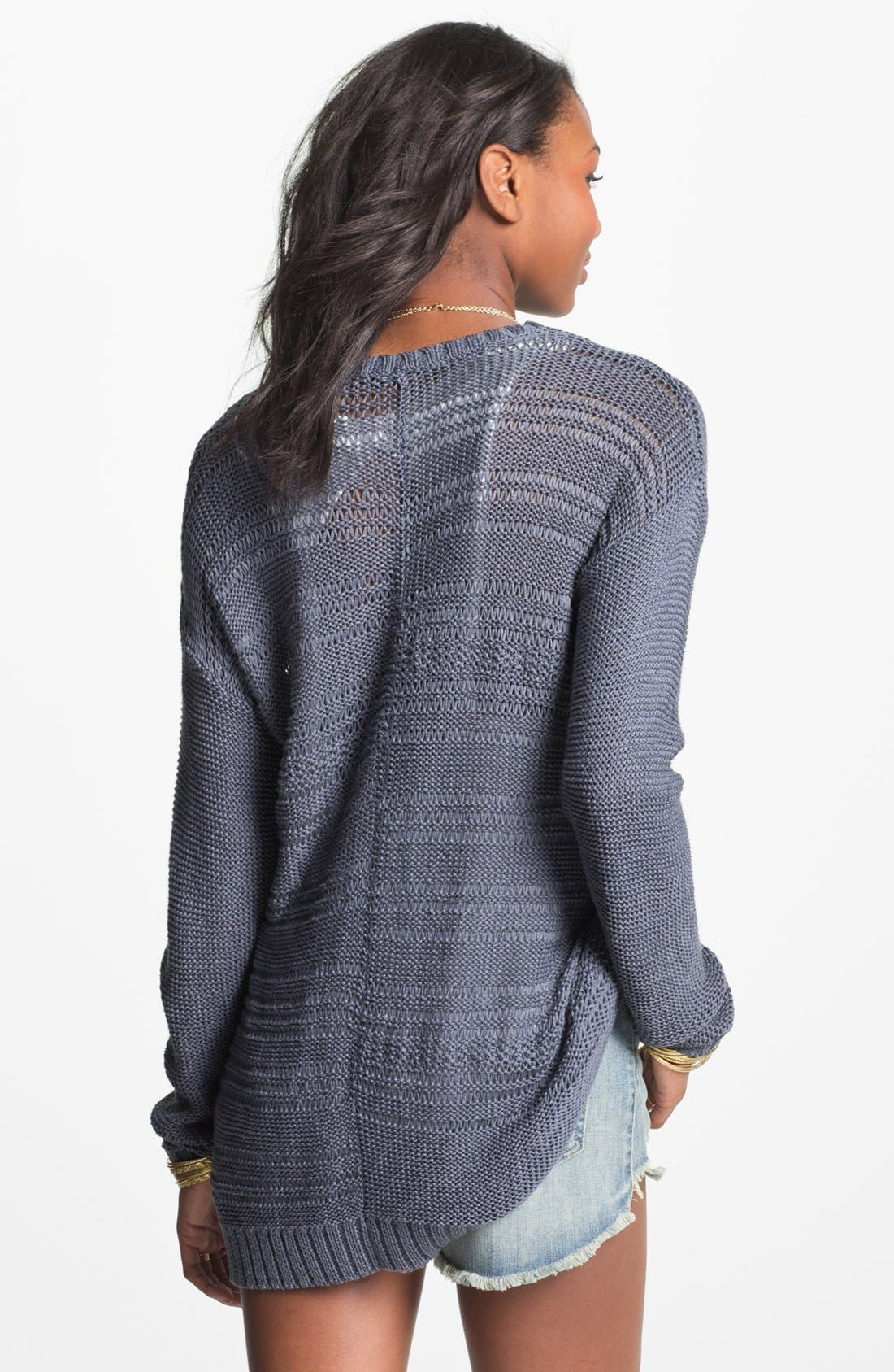 Alternate Image 2  - Rubbish Open Weave Cardigan (Juniors)