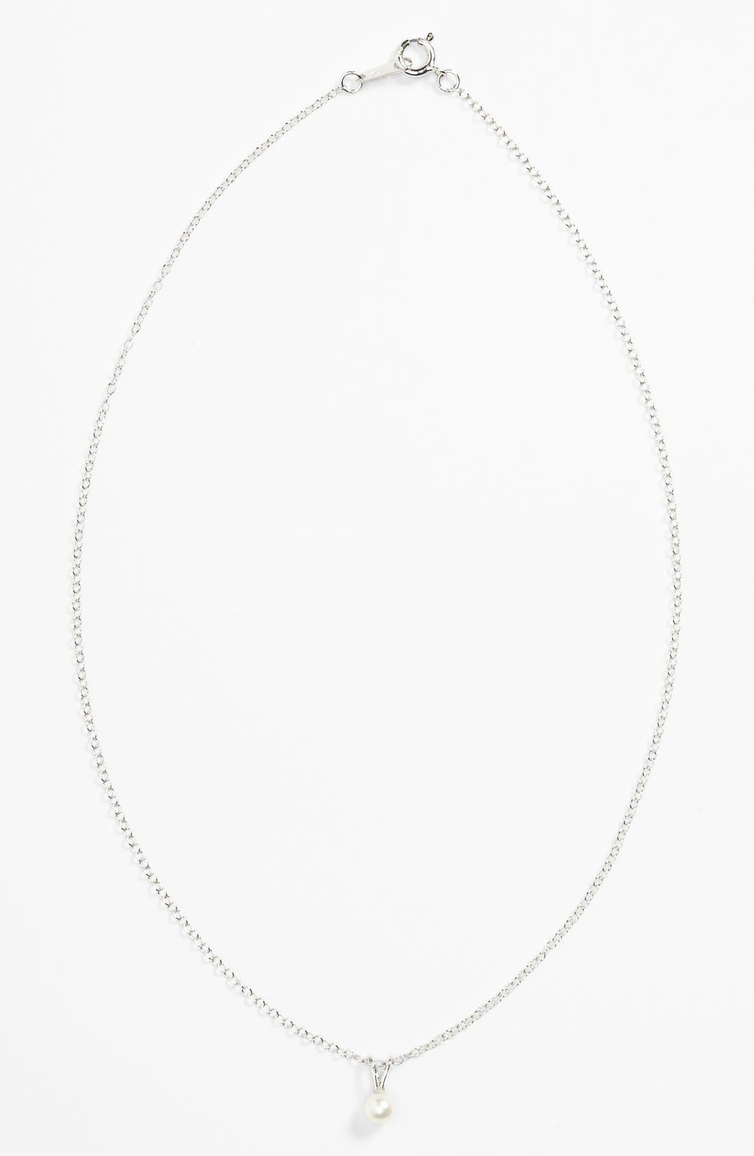Alternate Image 1 Selected - Genuine Pearl Necklace (Infant)