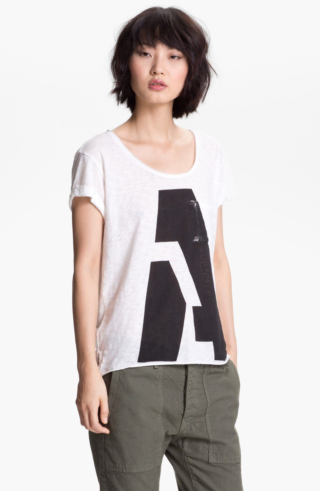 Main Image - rag & bone/JEAN 'Alphabet' Pocket Tee