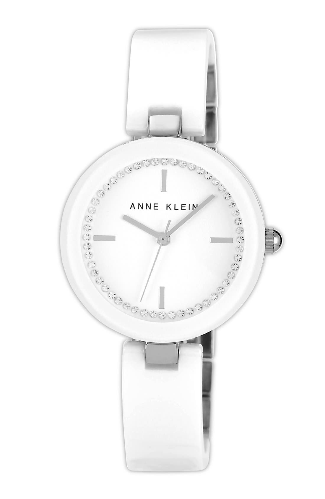 Main Image - Anne Klein Ceramic Half Bangle Watch, 31mm