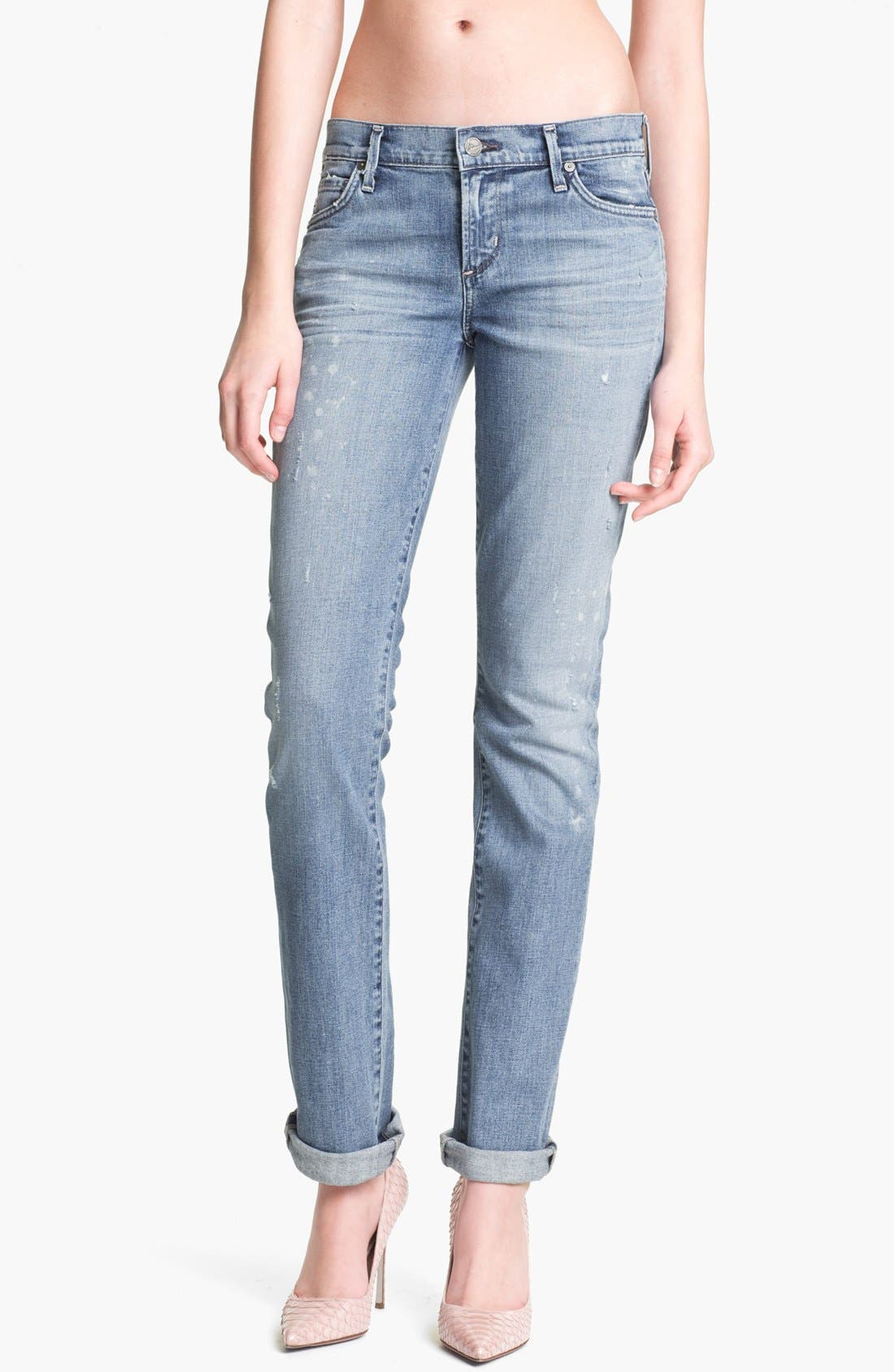 Alternate Image 1 Selected - Citizens of Humanity 'Ava' Straight Leg Jeans (Mystic Blue)