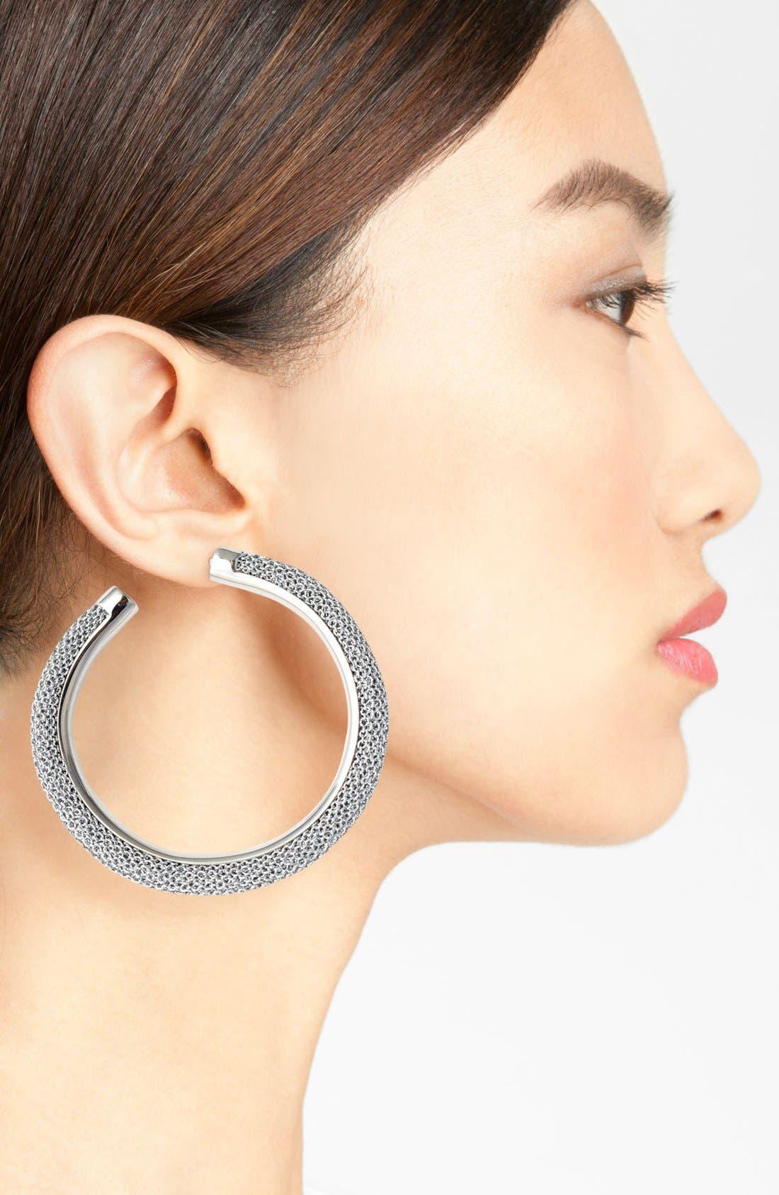 Alternate Image 2  - Adami & Martucci 'Mesh' Large Hoop Earrings
