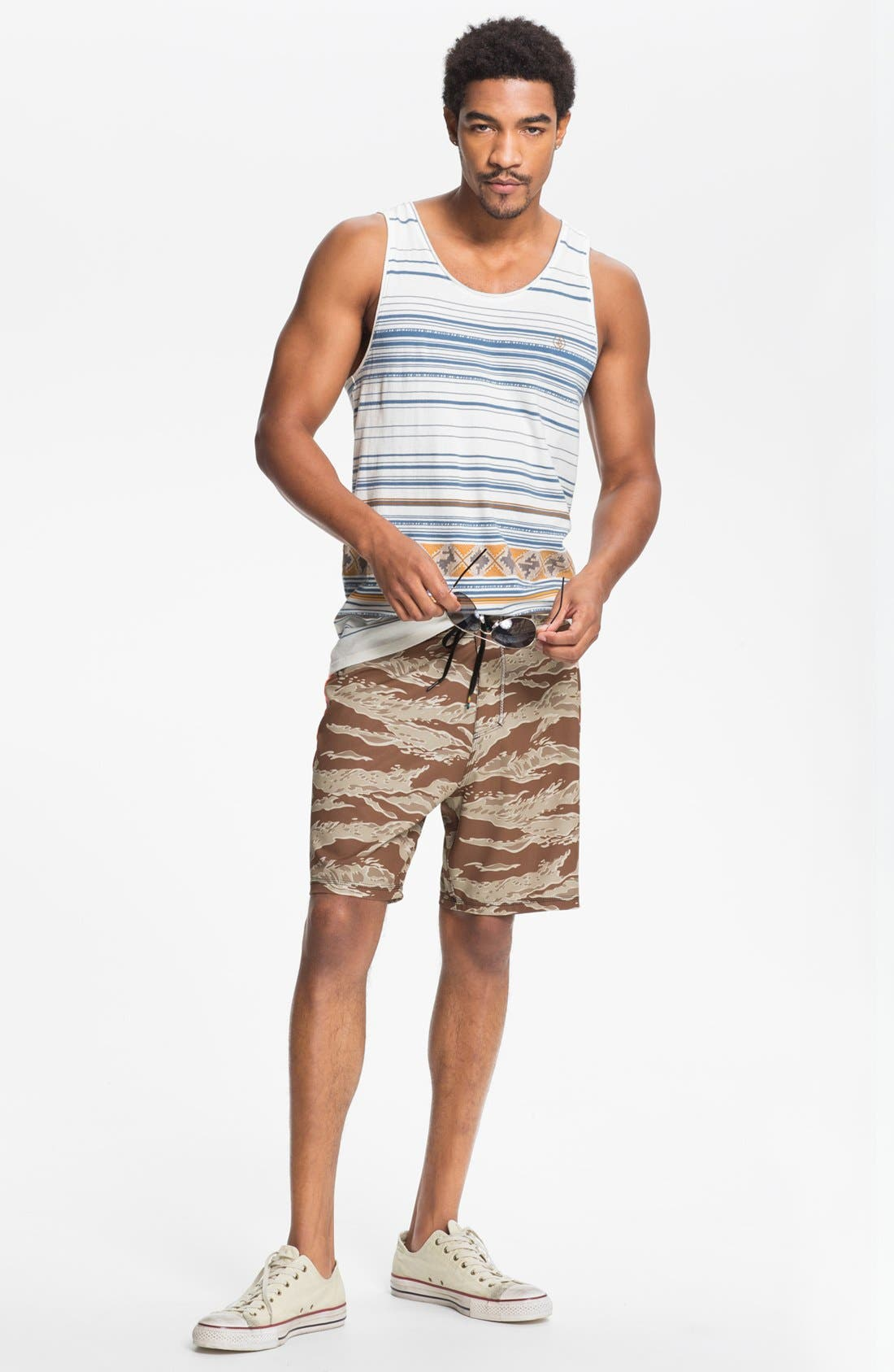 Alternate Image 1 Selected - Volcom Tank Top & Hurley Board Shorts