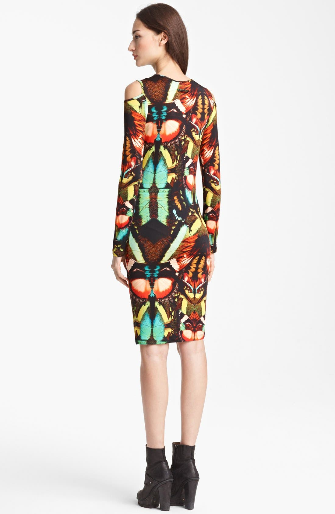 Alternate Image 2  - Jean Paul Gaultier Fuzzi Butterfly Print Cold Shoulder Dress