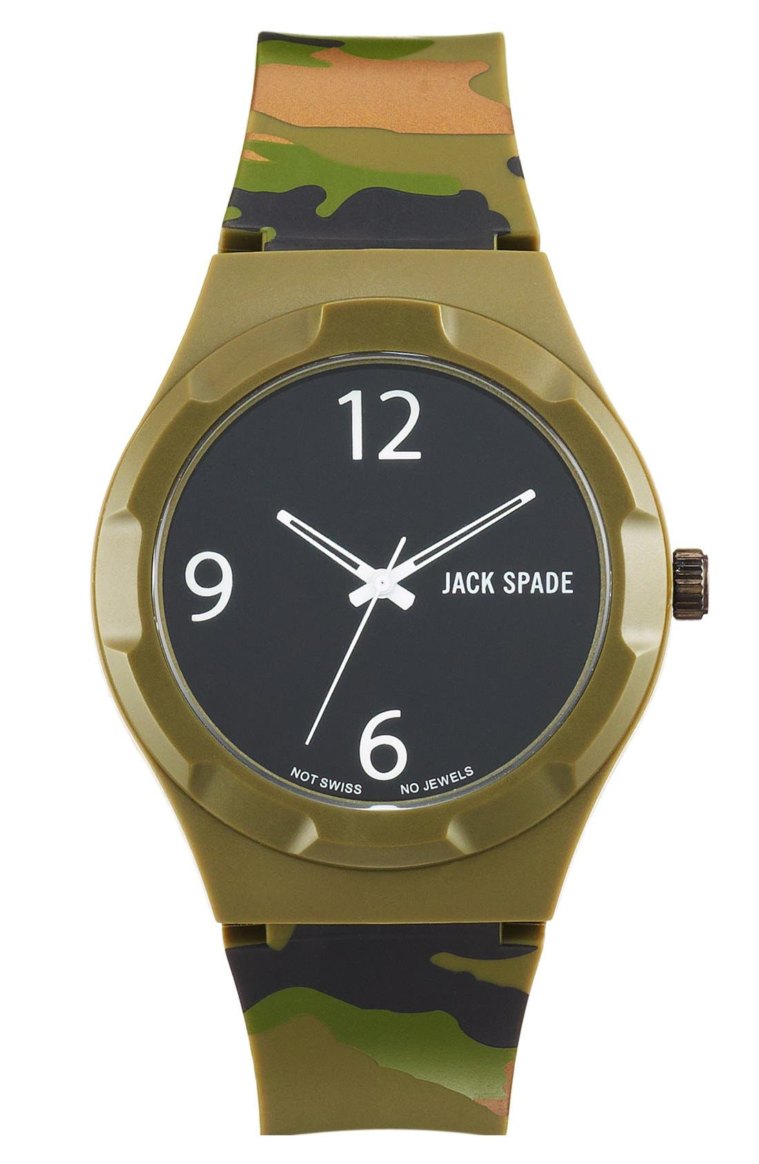 Alternate Image 1 Selected - Jack Spade 'Graphic - Camo' Watch, 40mm