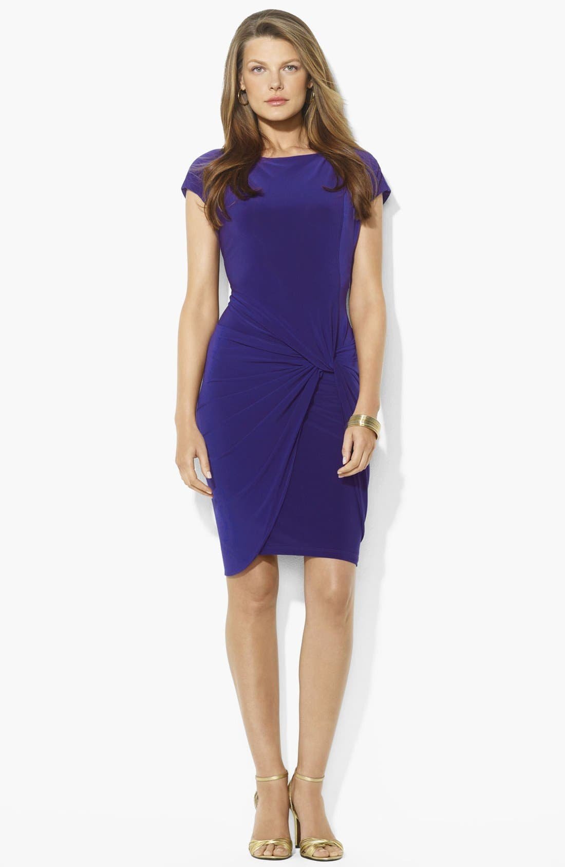Alternate Image 1 Selected - Lauren Ralph Lauren Knotted Jersey Sheath Dress
