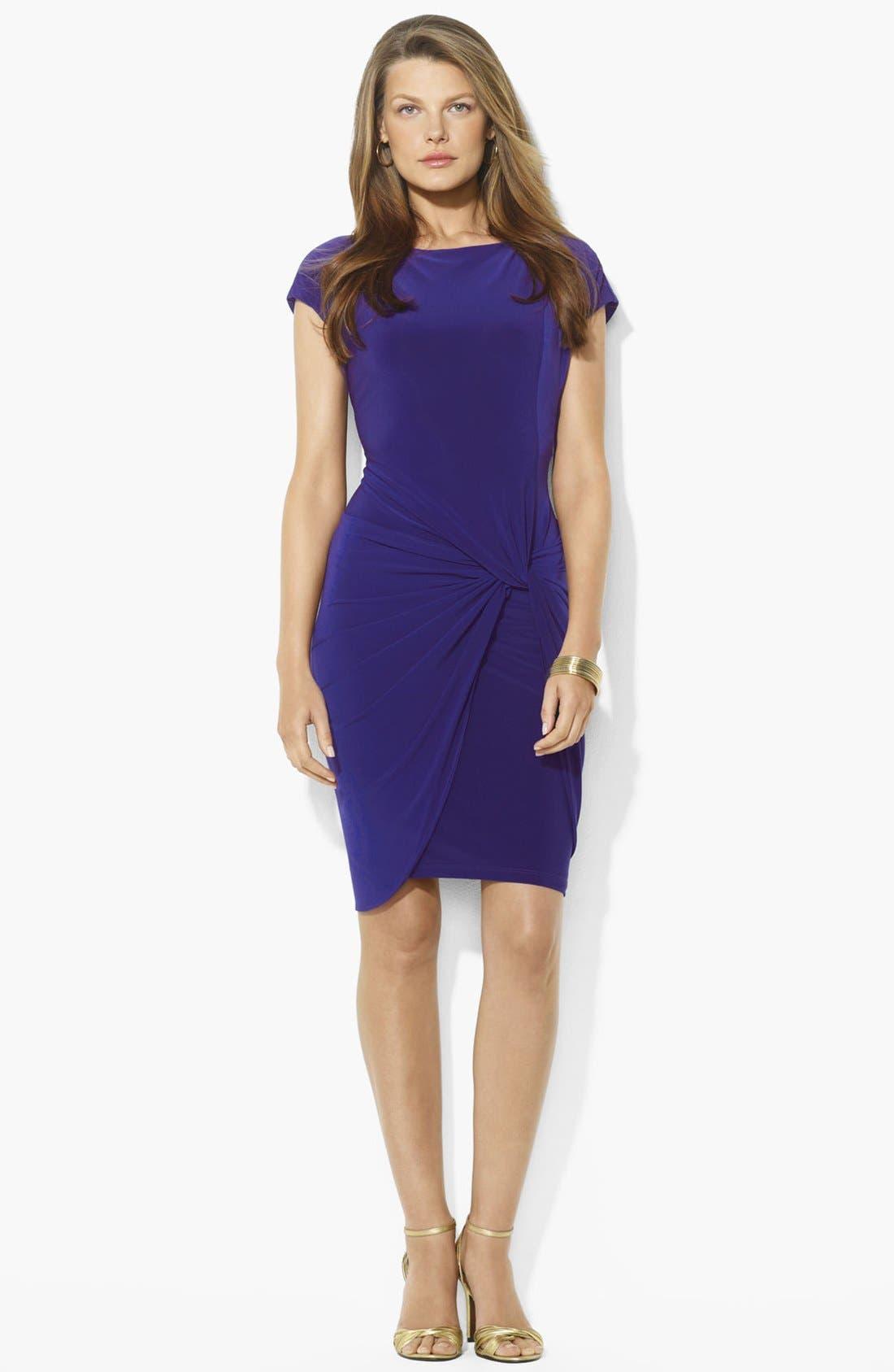 Main Image - Lauren Ralph Lauren Knotted Jersey Sheath Dress