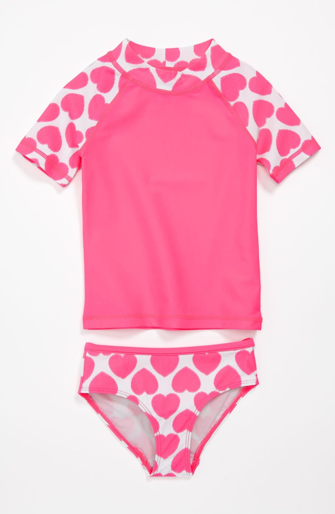 Alternate Image 1 Selected - Tucker + Tate Rashguard Shirt & Bottoms (Toddler Girls)