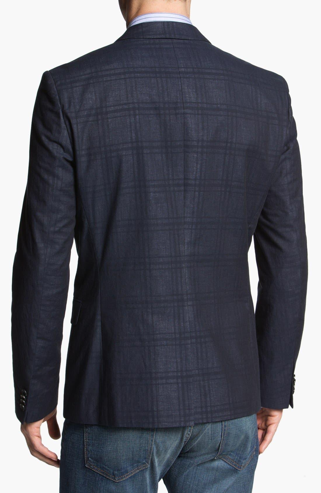 Alternate Image 3  - HUGO 'Amares' Extra Trim Fit Plaid Sportcoat