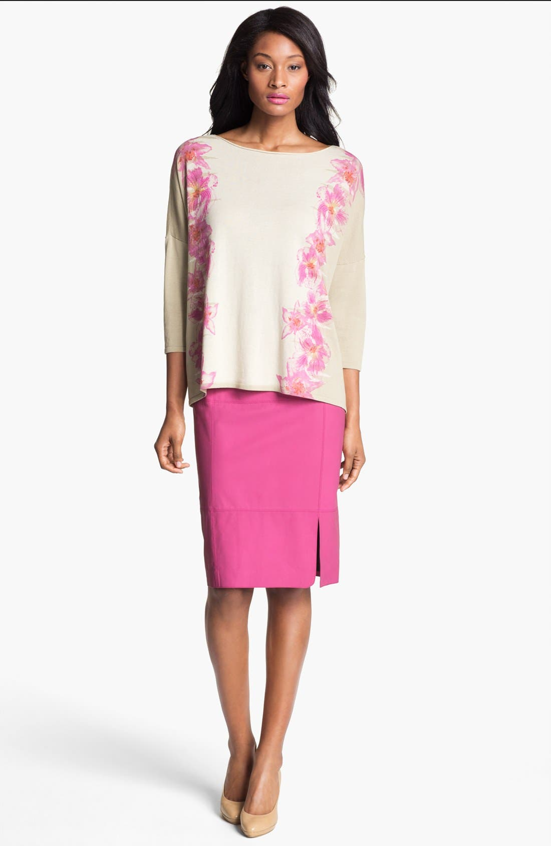 Alternate Image 4  - Lafayette 148 New York 'Opulent' Intarsia Sweater