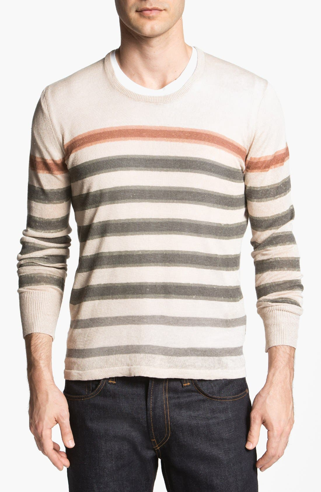 Alternate Image 1 Selected - Burberry Brit Linen Blend Sweater
