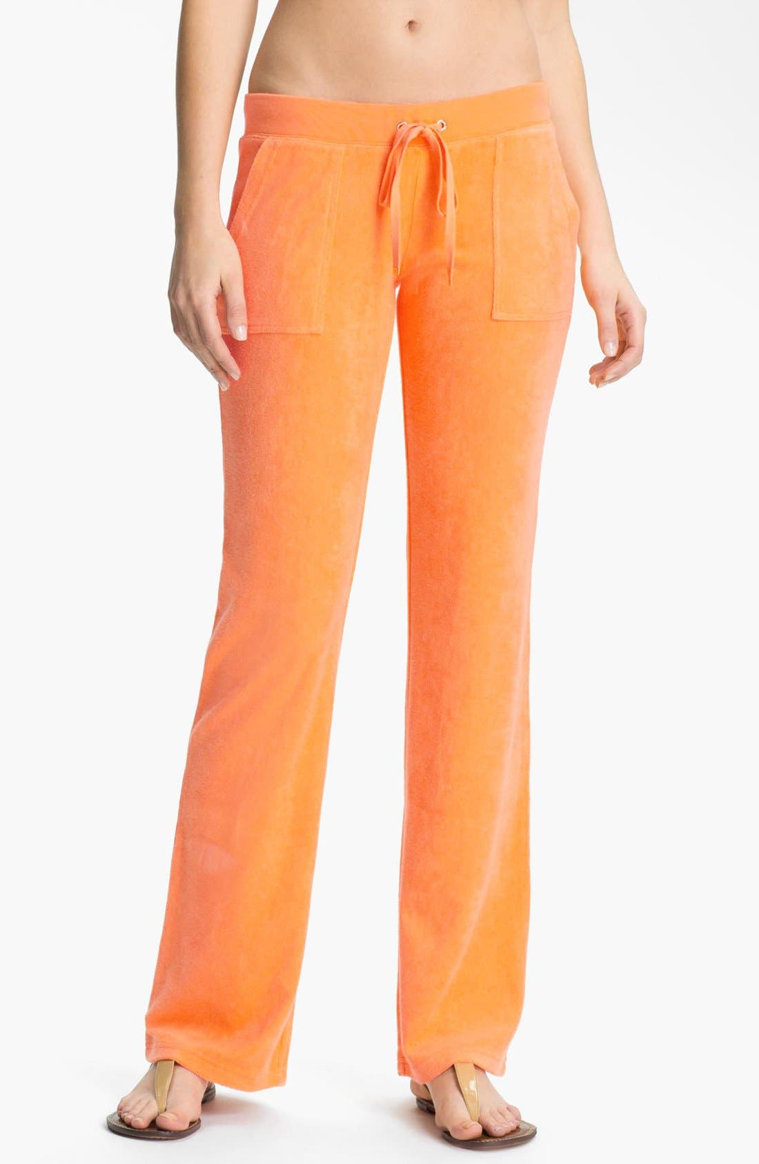 Main Image - Juicy Couture Bootcut Terry Pants