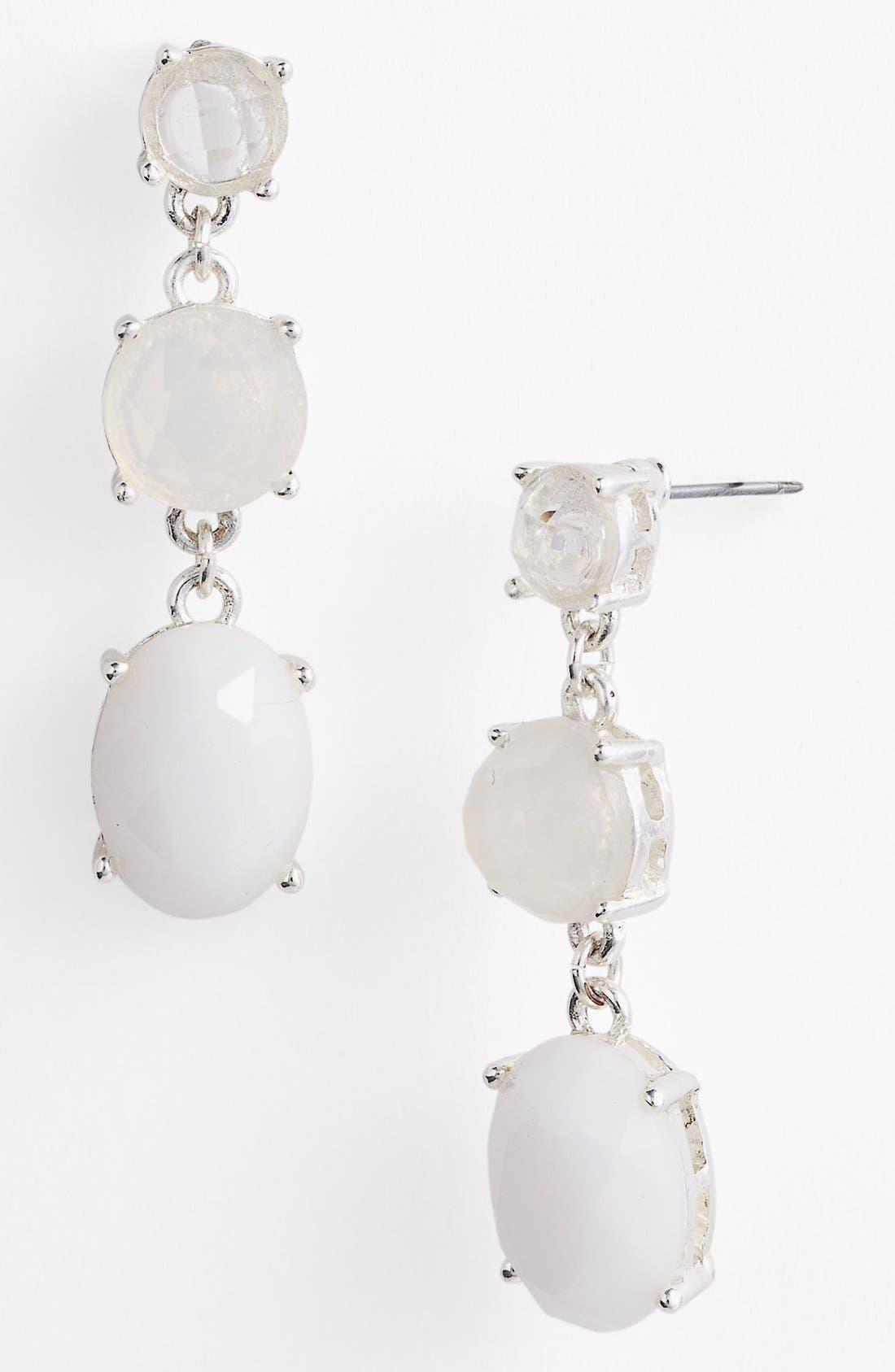 Alternate Image 1 Selected - Anne Klein Triple Drop Earrings