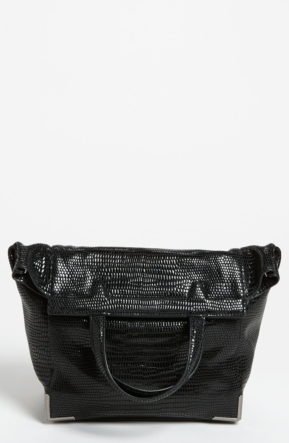 Alternate Image 1 Selected - Alexander Wang 'Prisma - Skeletal Lunchbag' Lizard Embossed Foldover Satchel