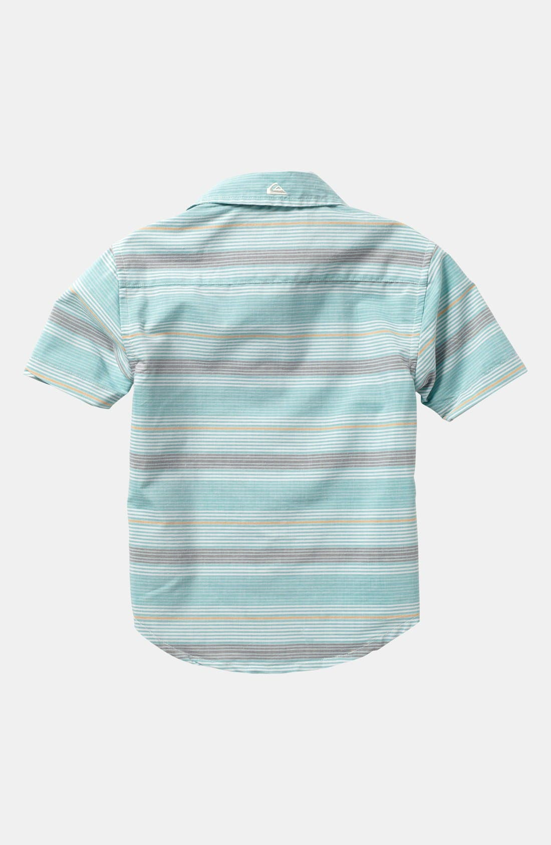 Alternate Image 2  - Quiksilver 'Booked Tickets' Short Sleeve Slim Fit Sport Shirt (Little Boys)