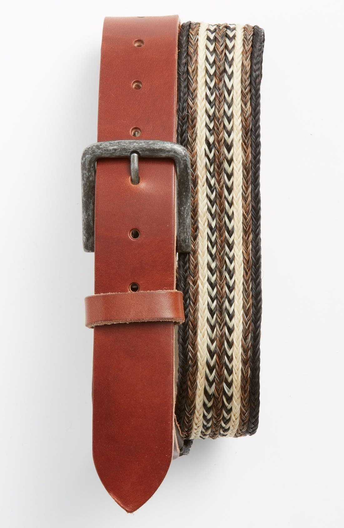 Alternate Image 1 Selected - Will Leather Goods Horsehair & Leather Belt