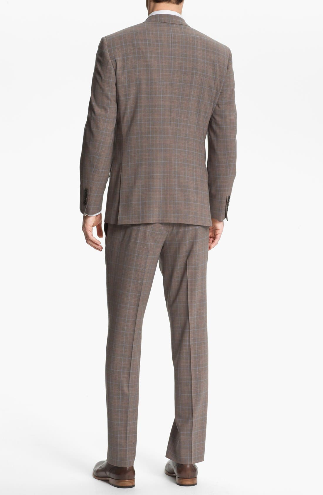 Alternate Image 3  - Ted Baker London Trim Fit Plaid Suit