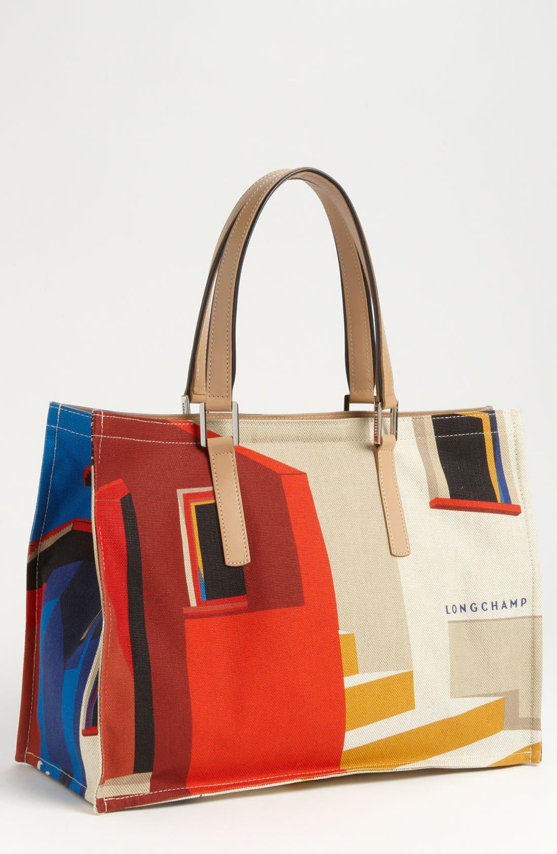 Alternate Image 5  - Longchamp 'Finca Luisa - Medium' Canvas Tote
