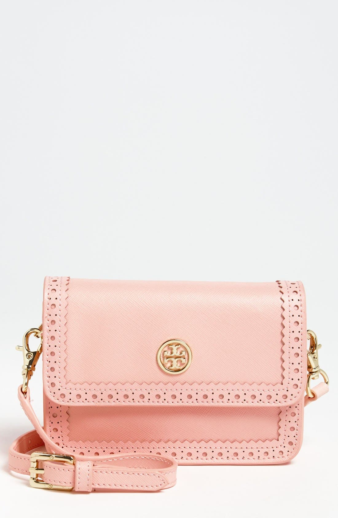 Alternate Image 1 Selected - Tory Burch 'Robinson Spectator - Mini' Saffiano Leather Crossbody Bag