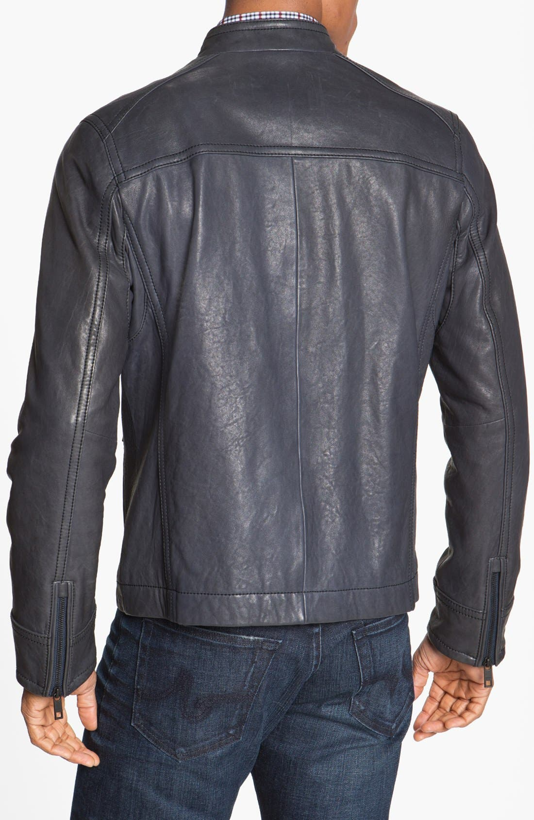 Alternate Image 2  - Andrew Marc 'Forest' Leather Moto Jacket