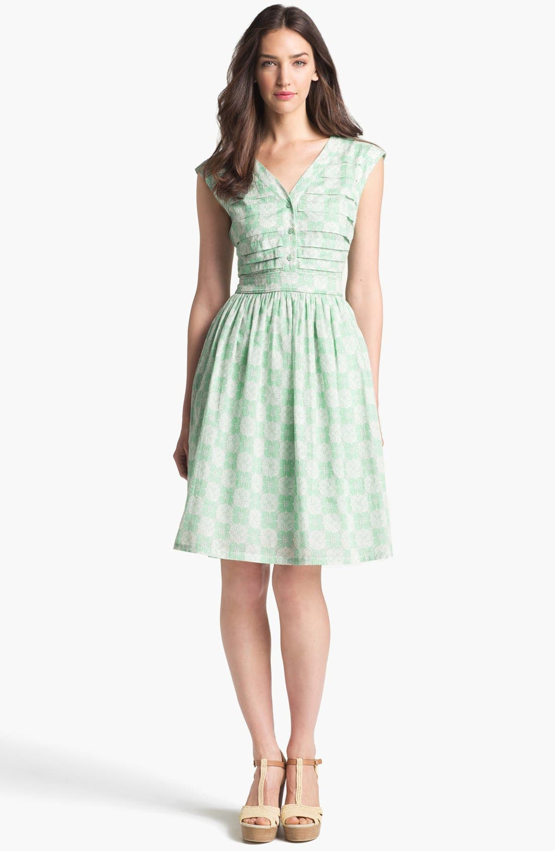 Alternate Image 1 Selected - Tory Burch 'Nico' Cotton Fit & Flare Dress