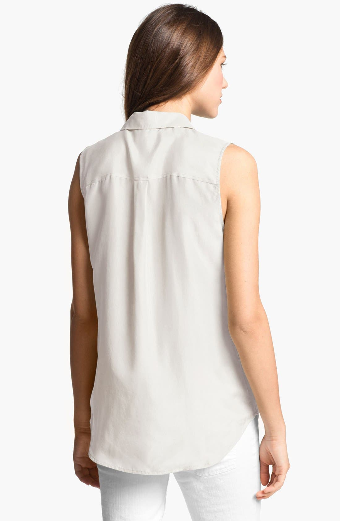 Alternate Image 2  - Equipment 'Slim Signature' Sleeveless Silk Shirt
