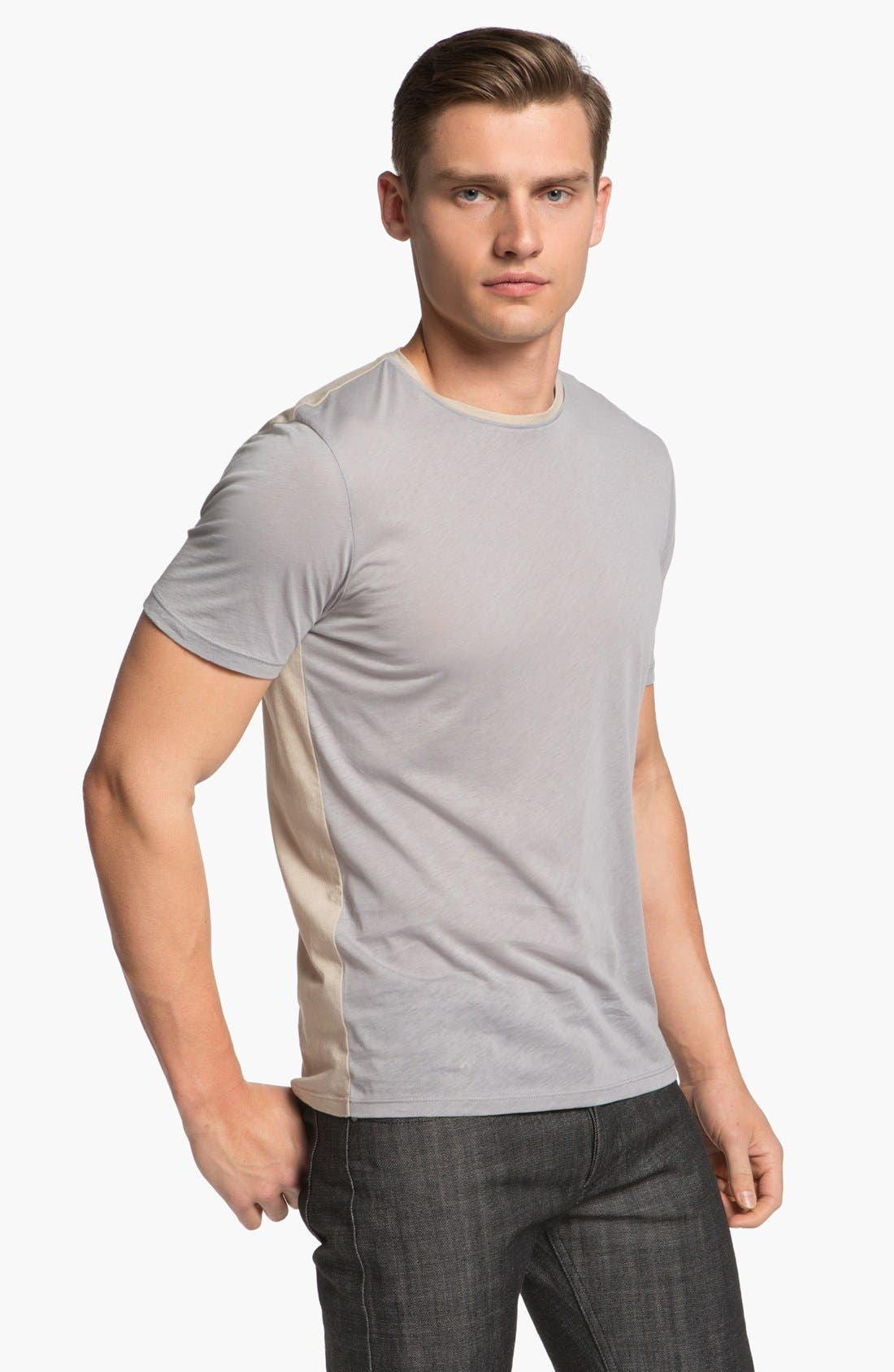 Alternate Image 1 Selected - Z Zegna Two Tone T-Shirt