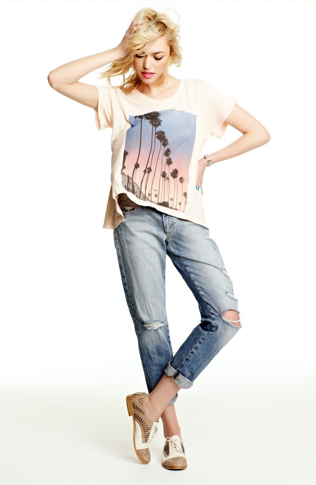 Main Image - Wildfox Tee & Joe's Crop Jeans