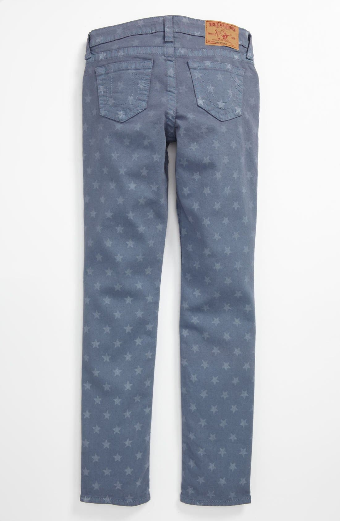 Alternate Image 1 Selected - True Religion Brand Jeans Skinny Leg Jeans (Big Girls)