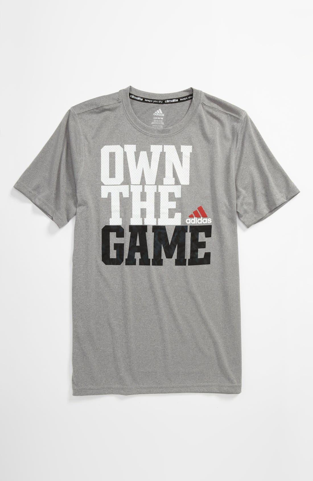 Main Image - adidas 'Own the Game' T-Shirt (Big Boys)