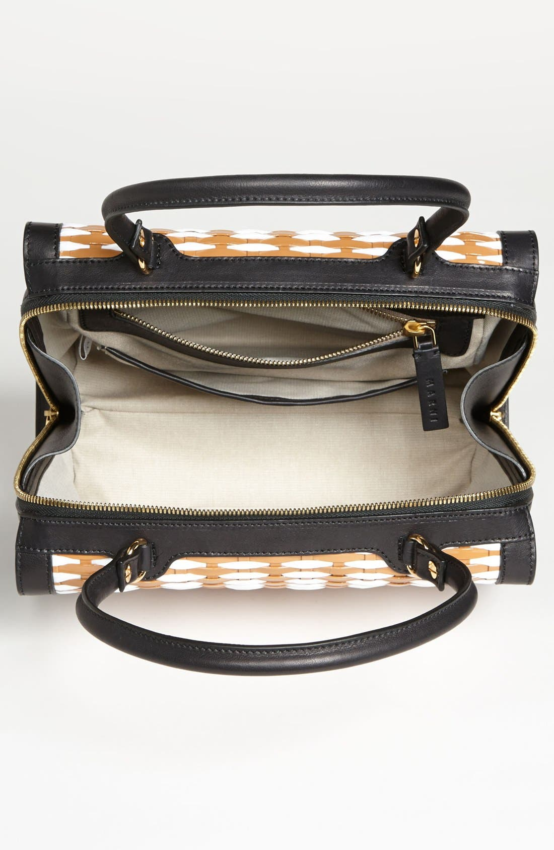Alternate Image 2  - Marni Woven Leather & Raffia Satchel