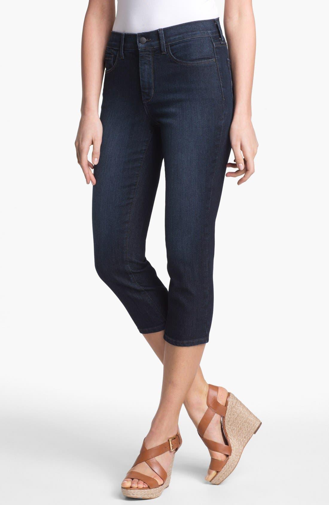 Alternate Image 1 Selected - NYDJ 'Svetlana' Skinny Crop Stretch Jeans