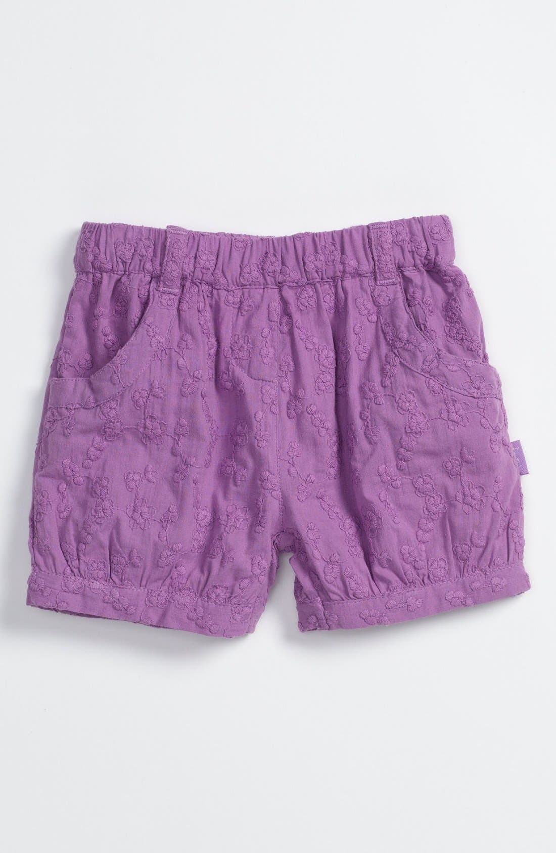 Alternate Image 1 Selected - Pumpkin Patch Embroidered Shorts (Baby)